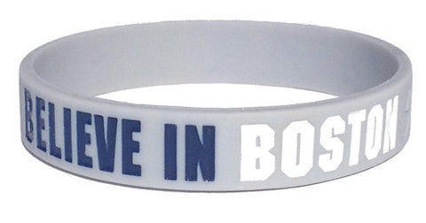Believe in Boston - Navy & White Bracelet