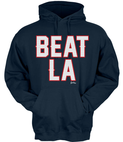 BEAT LA (Football Style) Hooded Sweatshirt
