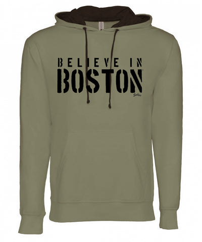 Believe in Boston - Stencil - Lightweight Sweatshirt