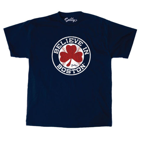 Believe in Boston - Baseball Shamrock - T-Shirt