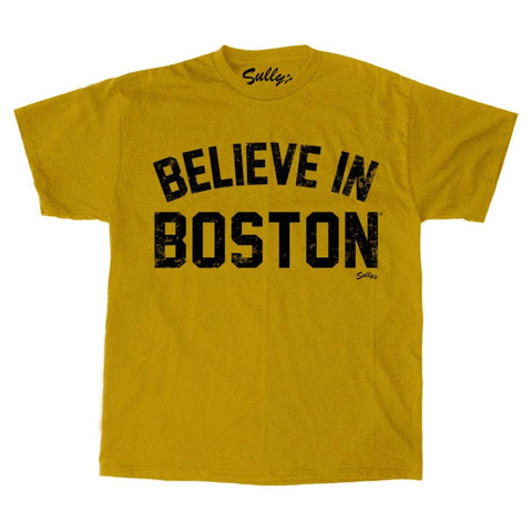 Believe in Boston - Retro Gold - T-Shirt