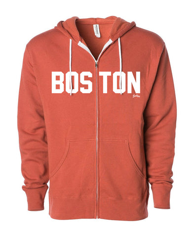 Boston - Zip Up Hooded Sweatshirt