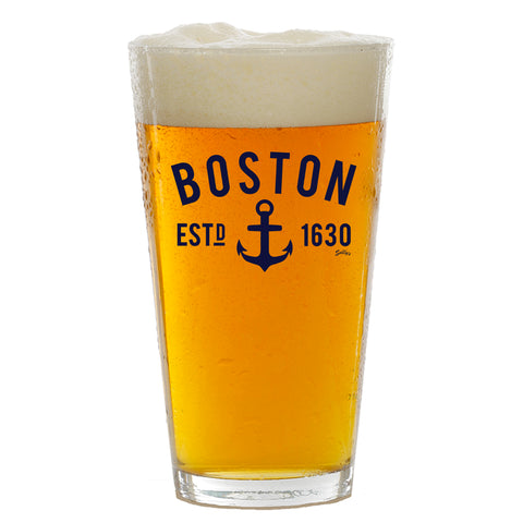Boston Anchor Pint Glass