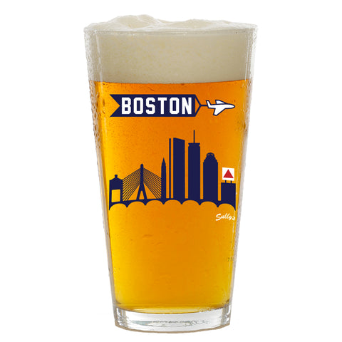 Boston Skyline Pint Glass