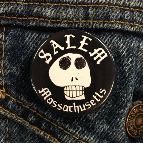 "Salem Skull 1.5"" Button"