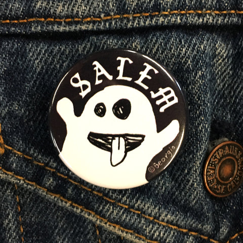 "Salem Ghost 1.5"" Button"