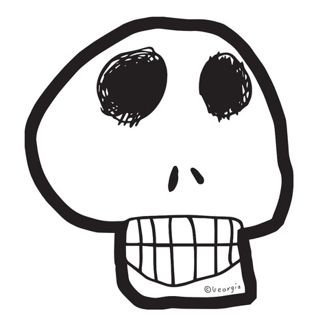Die Cut Skull Sticker