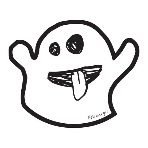 Die Cut Ghost Sticker