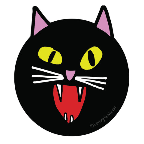 Die Cut Black Cat Sticker