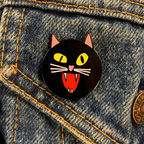 Black Cat Enamel Pin (BCR Boston Benefit)