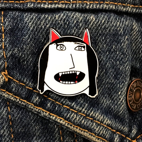 Vampire Girl Enamel Pin