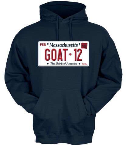 GOAT 12 - License Plate -  Hooded Sweatshirt