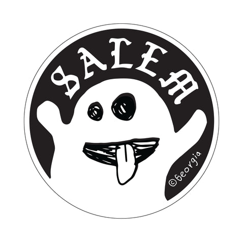 "Salem 4"" diameter Ghost Sticker"