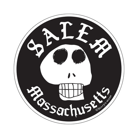 "Salem 4"" diameter Skull Sticker"