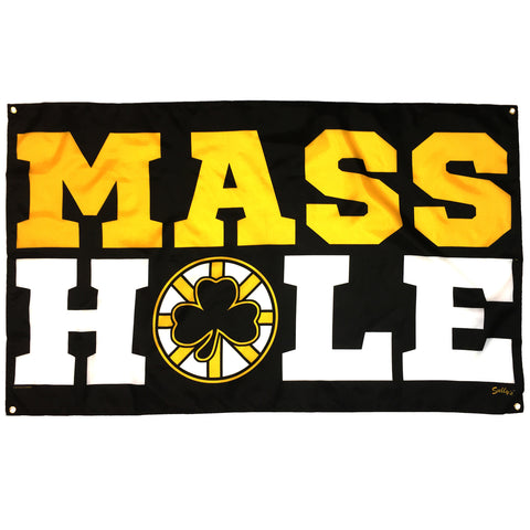 Masshole - Black & Gold Banner