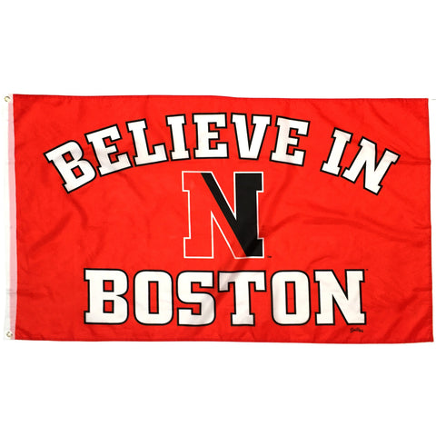Believe In Boston - Northeastern University - 3'x5' Flag