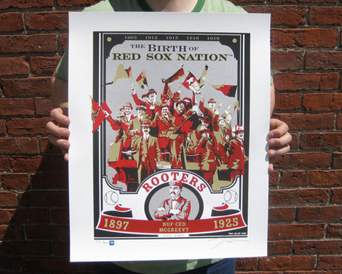 ROOTERS 1897-1925 Limited Edition Screen Printed Poster