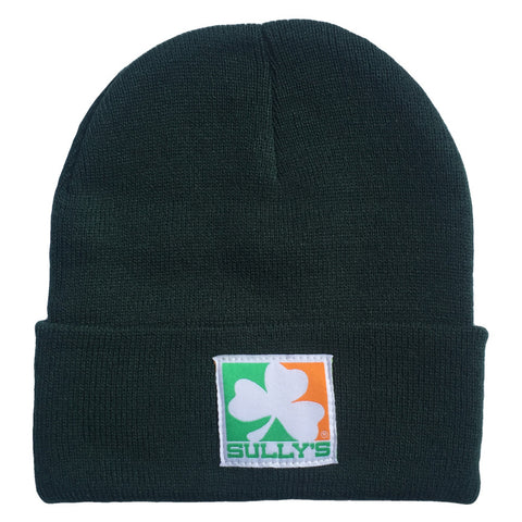 Sully's Shamrock Logo Woven Label Beanie