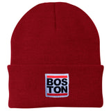 Boston Red Bar Woven Label Beanie