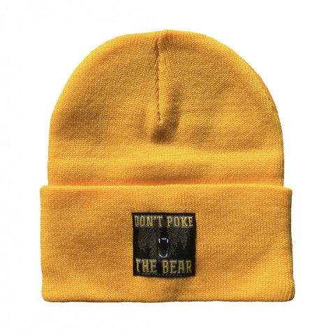 Don't Poke The Bear Woven Label Beanie