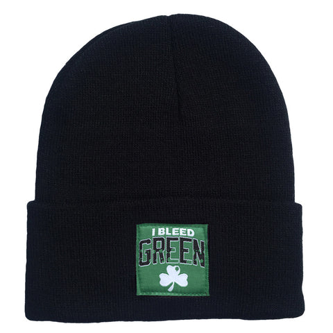 I Bleed Green Woven Label Beanie