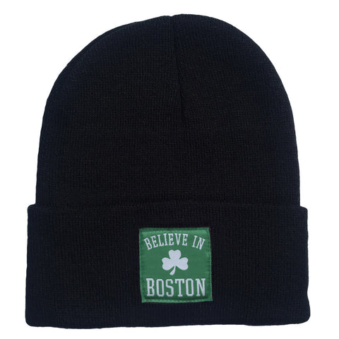 Believe In Boston - Classic Shamrock - Woven Label Beanie