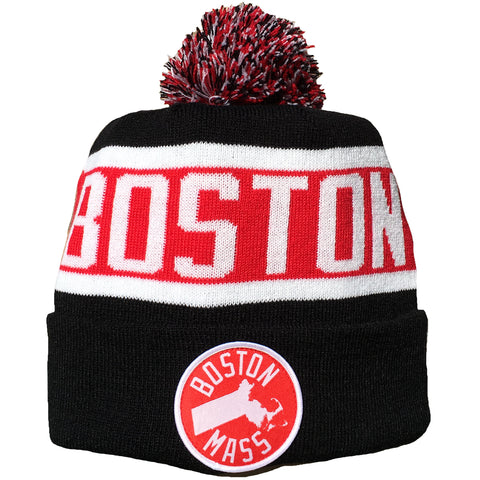 Boston Mass - Pom Beanie