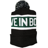 Believe In Boston - Basketball Shamrock - Pom Beanie