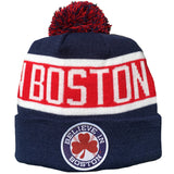 Believe In Boston - Baseball Shamrock - Pom Beanie