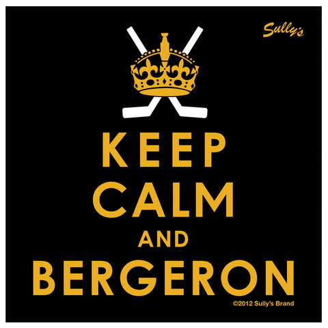 Keep Calm and Bergeron Sticker