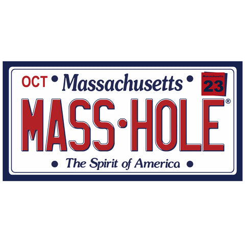 MASS•HOLE License Plate Sticker