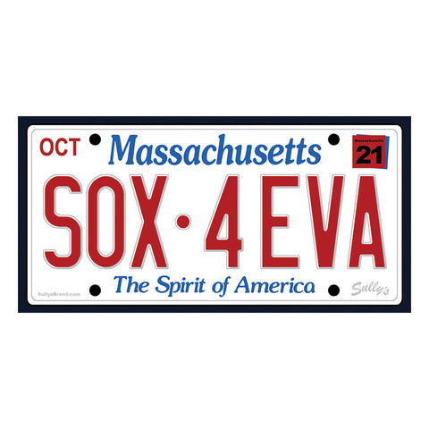 SOX•4EVA License Plate Sticker