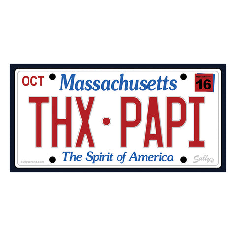 THX•PAPI License Plate Sticker