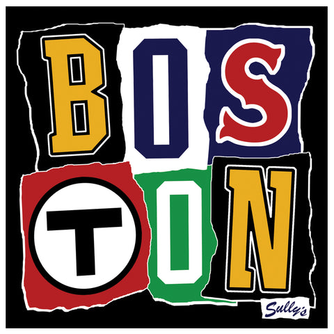 BOS TON Ransom Note Sticker