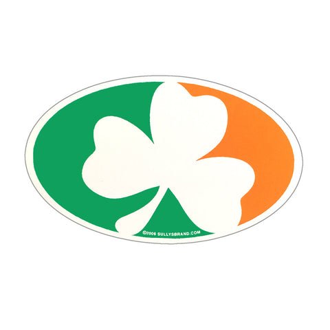 Sully's Irish Shamrock Oval Sticker