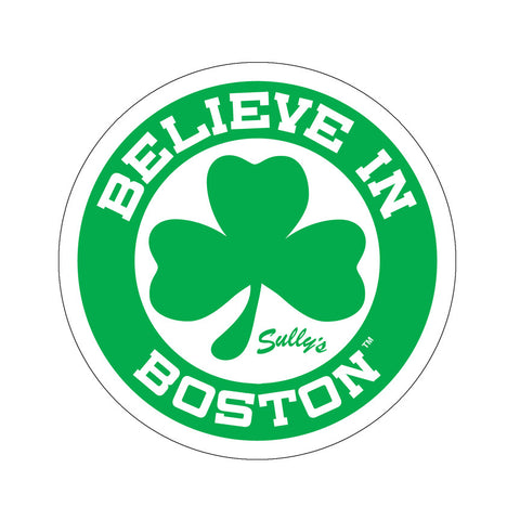 Believe in Boston - Green Shamrock Circle Sticker