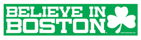 Believe in Boston (Green, Rectangle) Bumper Sticker