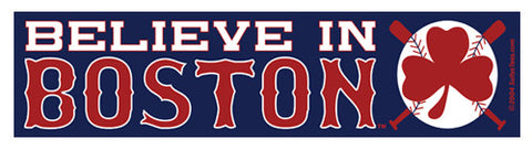 Believe in Boston - Red Shamrock Sticker