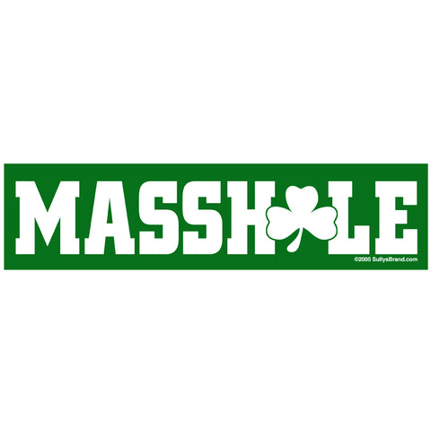 Masshole - Green Shamrock Sticker