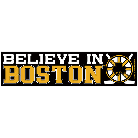 Believe in Boston - Black & Gold Sticker