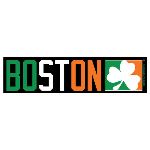 Boston Shamrock Sticker