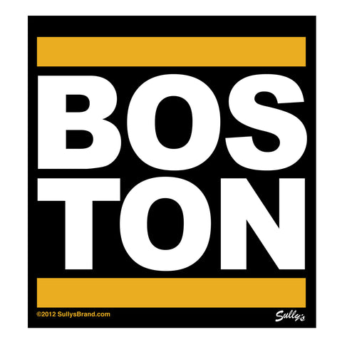 Boston - Gold Bar Sticker
