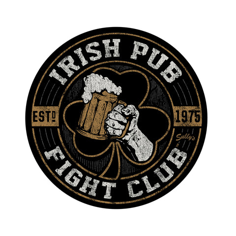Irish Pub Fight Club Sticker