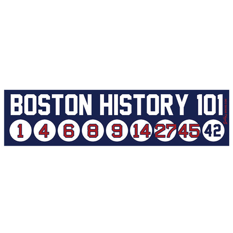 Boston History 101 Sticker