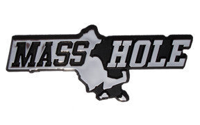 Masshole Chrome Auto Emblem
