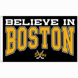 Believe in Boston - Black & Gold 3' x 5' Flag