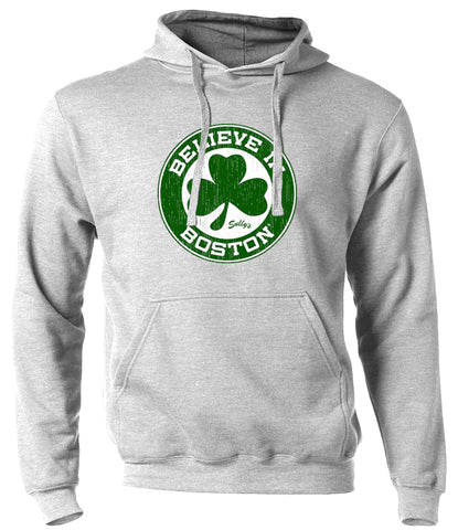 Believe in Boston - Basketball Shamrock - Sweatshirt