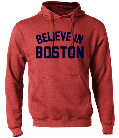 Believe in Boston - Heather Red - Sweatshirt