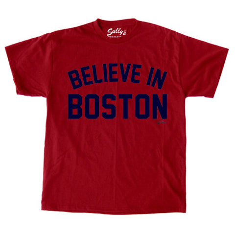 Believe in Boston Retro Youth T-Shirt - Red