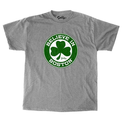 Believe in Boston - Basketball Shamrock - Youth T-Shirt